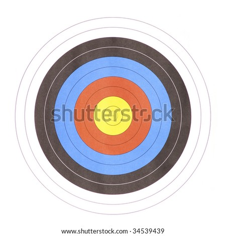 new clean Bull's eye target for archery