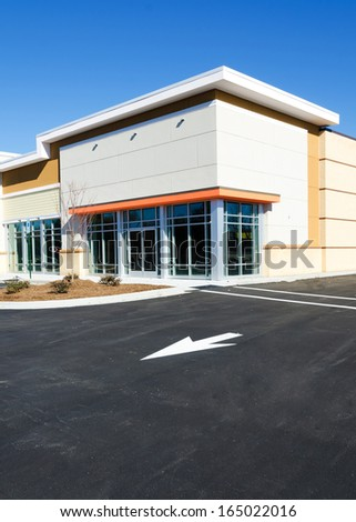 New commercial retail small office building