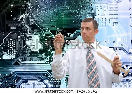 New computers technology.Globalization - stock photo