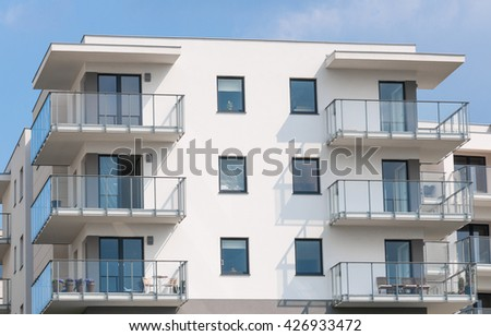 new construction flat - stock photo