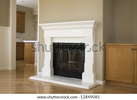 Fireplace mantle stock images royalty free images for New construction fireplace