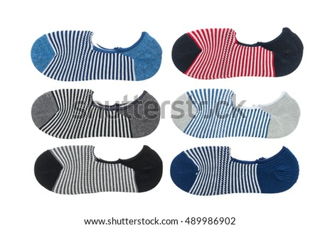 New cotton socks isolated on white background