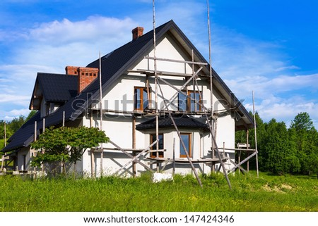 New country house - stock photo