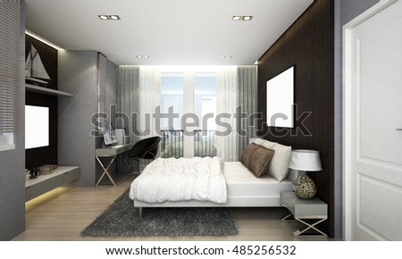 New 3D rendering of  bedroom