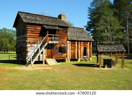 New Echota state park historic site settlers homes