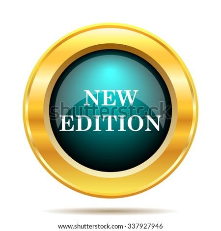 New edition icon. Internet button on white background.  - stock photo
