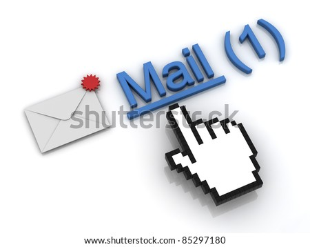New email message in the inbox concept - stock photo