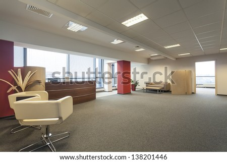 New empty office with a special furniture - stock photo