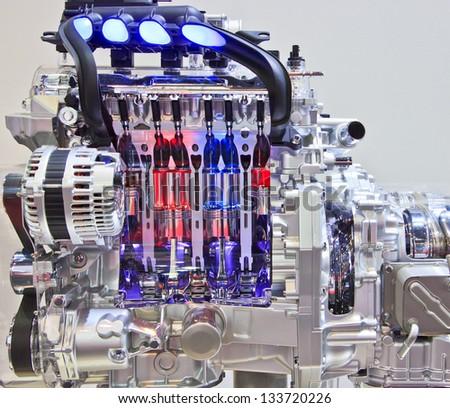 New engine new car - stock photo