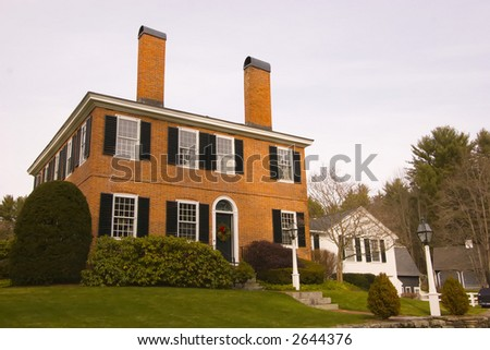 New England Colonial Home - stock photo
