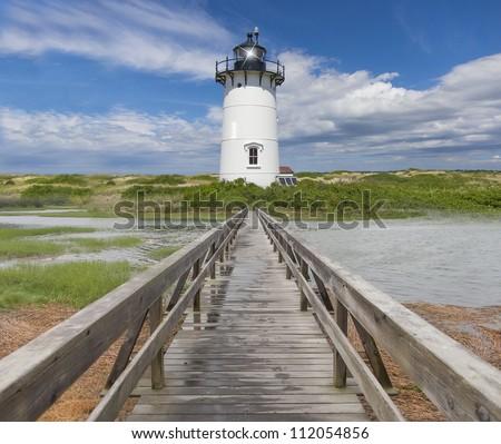 New England lighthouse - stock photo