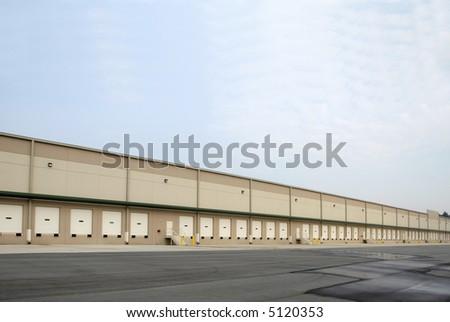 New Expansive Warehouse - stock photo