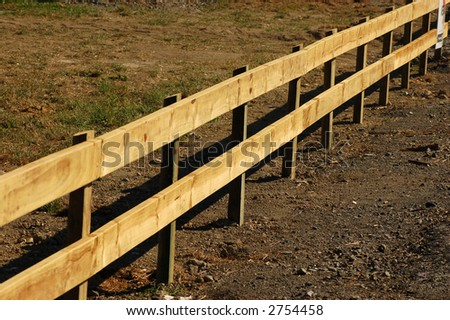 New farm fence