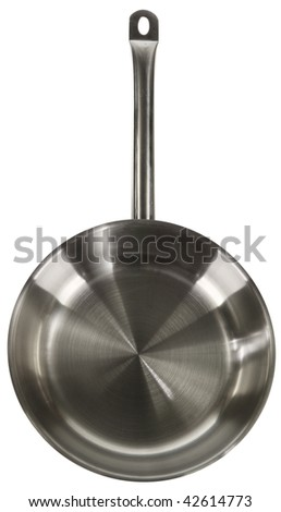 New frying pan - stock photo