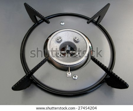 New gas hob waiting to be used - stock photo