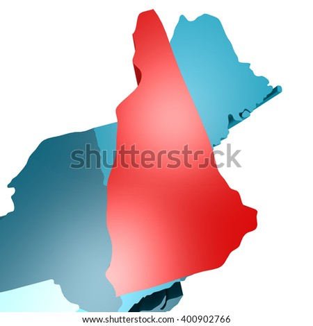 New Hampshire image, 3D rendering