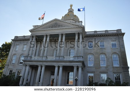 New Hampshire State House in Concord, New Hampshire, USA - stock photo