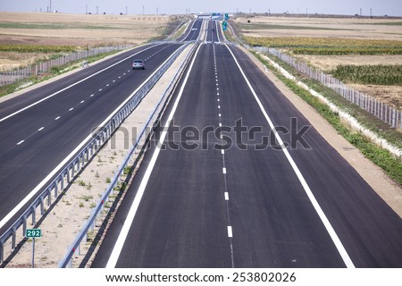 New highway in Eastern Europe - stock photo