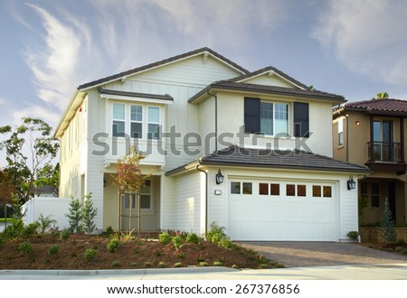New Home Building Exterior House - stock photo