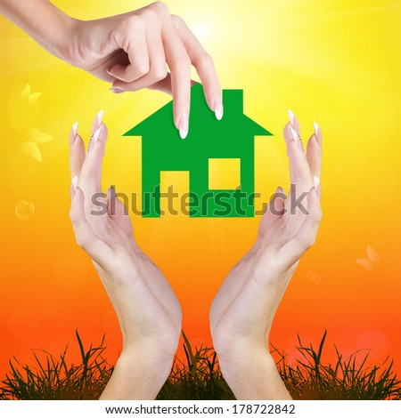 New Home for Family.Happiness Concept - stock photo
