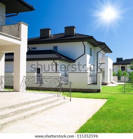 New house. Cottage - stock photo