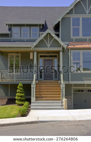 New house for sale in Portland Oregon - stock photo