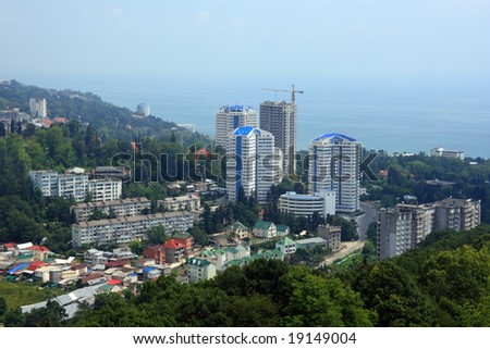 New houses in Sochi, Black Sea, Russia