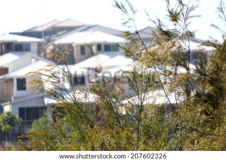 New Housing Development - stock photo