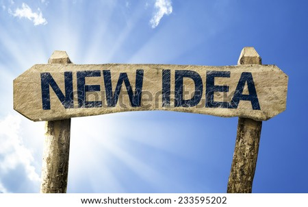 New Idea sign on a summer day - stock photo