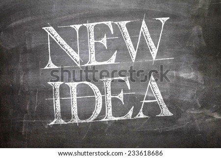 New Idea written on blackboard - stock photo