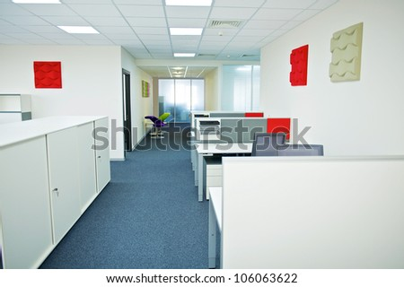 New ideas of modern office interior.