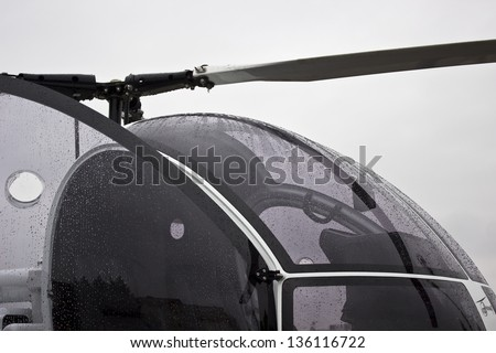 new image of civil helicopter can use like business transportation symbol - stock photo