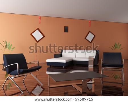 New interior of a room - stock photo