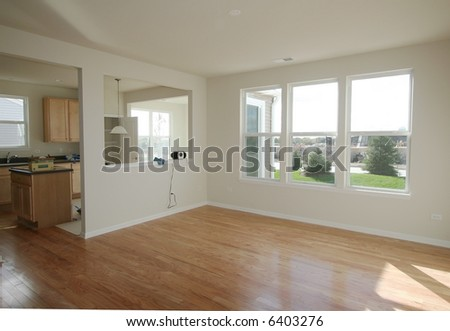 New interior of home - stock photo