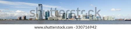 New Jersey, Jersey City panorama - stock photo