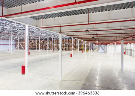 New Large modern storehouse with some goods