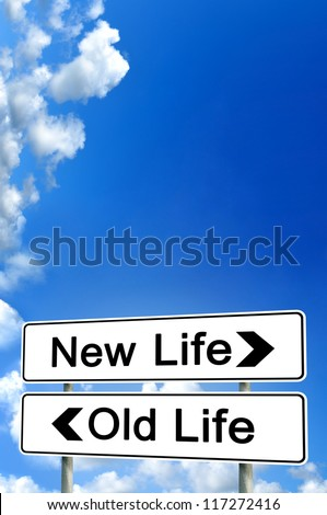 new life or old life - stock photo