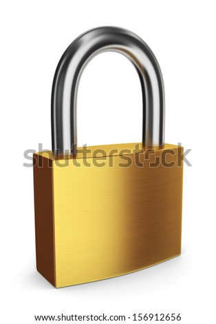 New lock. 3d illustration on white background