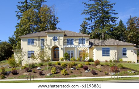 New Luxury Home - stock photo