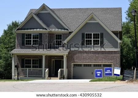 New luxury home construction at Georgia, USA. - stock photo