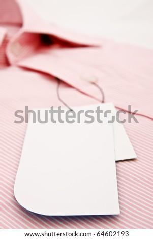 New men's shirt label - stock photo
