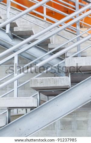 New metal staircase. - stock photo