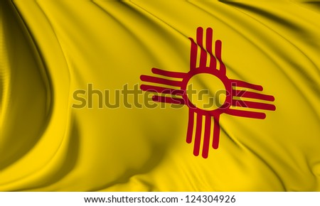 New Mexico flag - USA state flags collection no_3 - stock photo