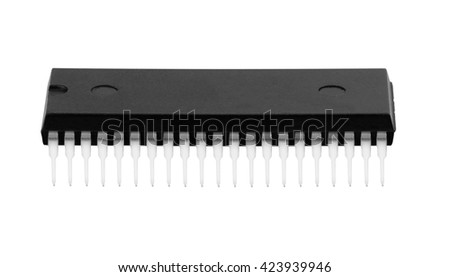 New microchip isolated on a white background