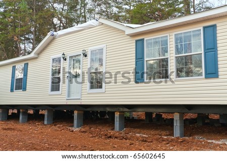 New mobile home - stock photo