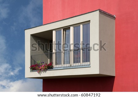 new modern apartment building - stock photo