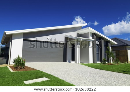 New modern Australian house. - stock photo