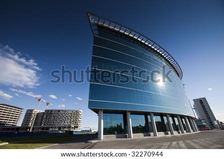 New modern building in Saint-Petersburg, Russia - stock photo