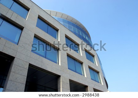 New modern glass office building - stock photo