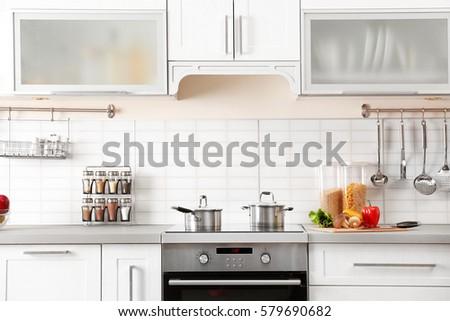 Modern Kitchen Interior modern kitchen interior stock photo 577108345 - shutterstock